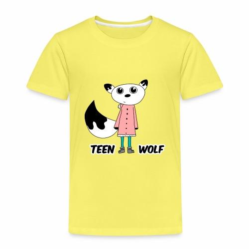 Lustiger Teen Wolf mit Jacke für den Winter - Kinder Premium T-Shirt