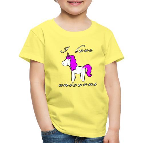 Einhorn schwarz - Kinder Premium T-Shirt