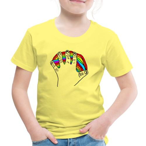 Anna's rainbow hand for peace - Premium T-skjorte for barn