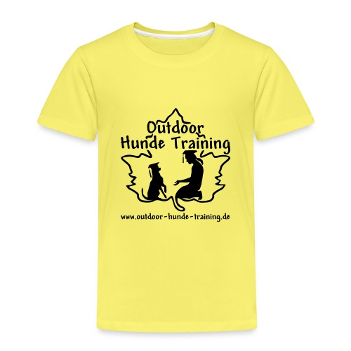 logo oht einfarbig schwarz - Kinder Premium T-Shirt