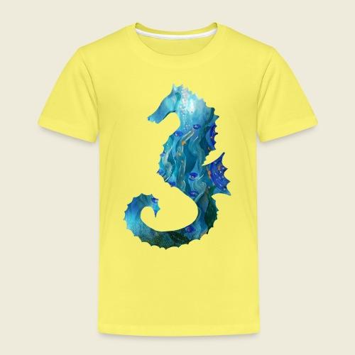 Seepferdchen blau türkis Kunst - Kinder Premium T-Shirt