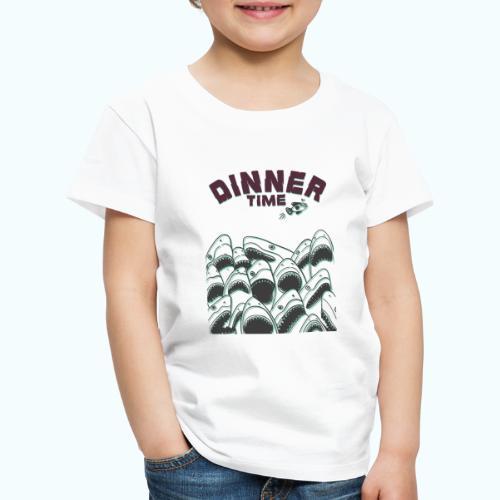 Dinner Time Funny Retro 90s Shark Shirt - Kids' Premium T-Shirt