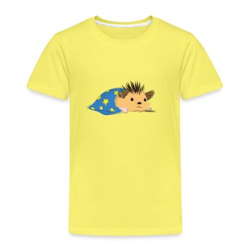 Porcospino che riposa nella copertina (colorato) - Maglietta Premium per bambini