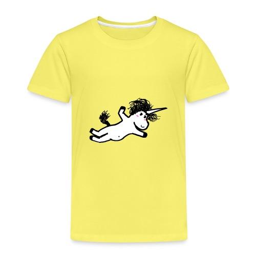unicorno che si lancia sul nulla - Maglietta Premium per bambini