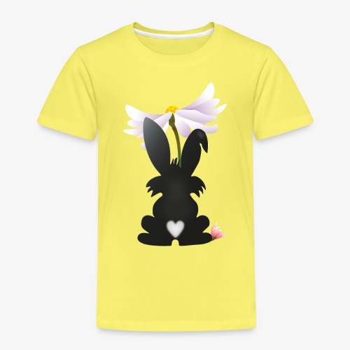 Hasensilhouette - Kinder Premium T-Shirt