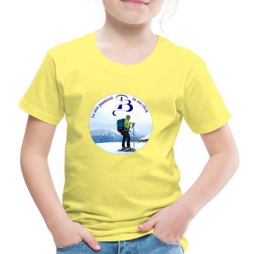 Logo cartone ciaspole - Maglietta Premium per bambini