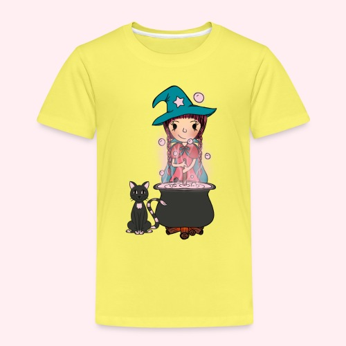 Witch Penelope and cat - Kinder Premium T-Shirt