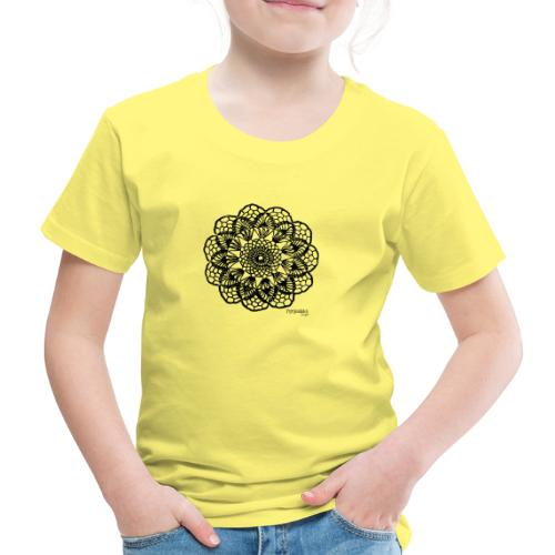 Grannys flower, musta - Lasten premium t-paita