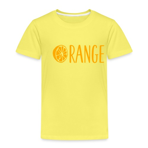 Orange Lettering - Kinder Premium T-Shirt