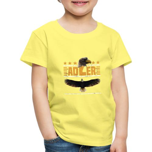 ADLER - Adlerkopf - Sterne - Greifvogel begeistert - Kinder Premium T-Shirt