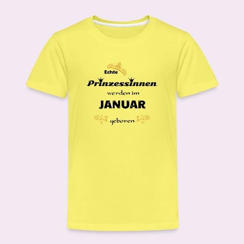 Echte Prinzessinnen werden in Januar geboren Shirt - Kinder Premium T-Shirt