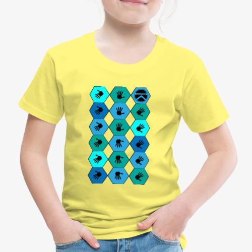  K·CLOTHES  HEXAGON ESSENCE BLUES - Camiseta premium niño