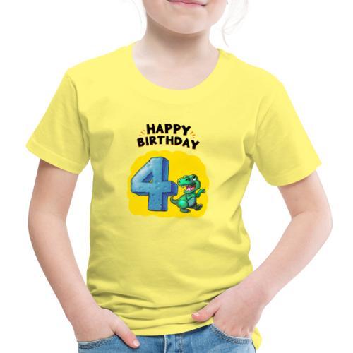Geburtstag 4 Jahre Tyrannosaurus Rex - Kinder Premium T-Shirt