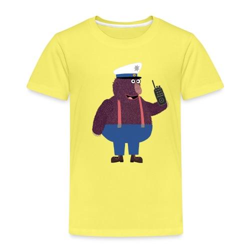 Knöpfchen als Polizist - Kinder Premium T-Shirt