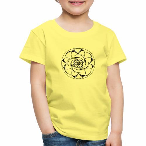 Mandala Nr 2 schwarz - Kinder Premium T-Shirt