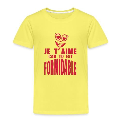 je aime car formidable smiley amoureux - T-shirt Premium Enfant