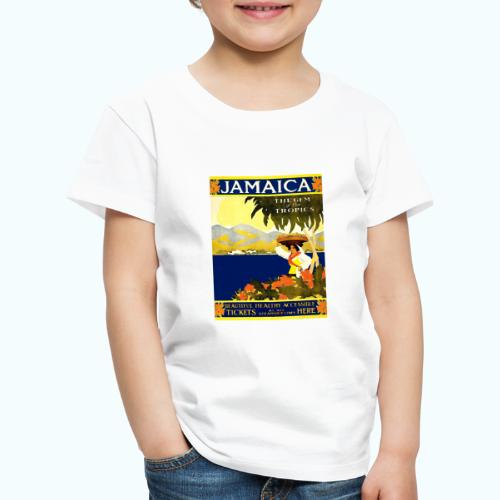Jamaica Vintage Travel Poster - Kids' Premium T-Shirt