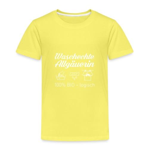 Waschechte Allgäuerin weiss - Kinder Premium T-Shirt