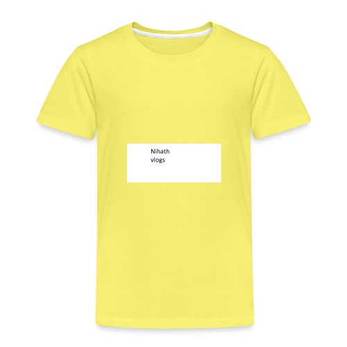 nihatrh vlogs - Kids' Premium T-Shirt
