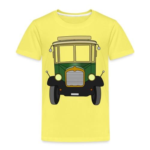 Oldtimer Ansicht von vorne (schwarz) - Kinder Premium T-Shirt