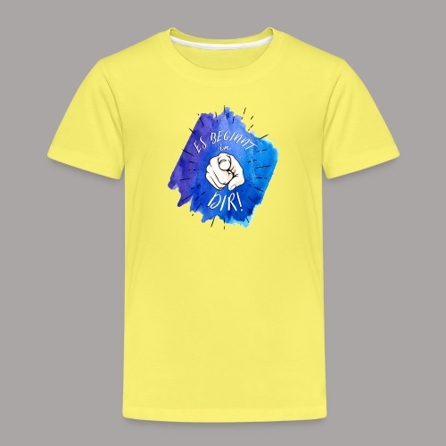 shirt blau tshirt druck - Kinder Premium T-Shirt