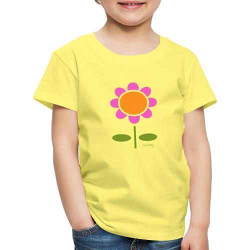 Retro flower - Lasten premium t-paita