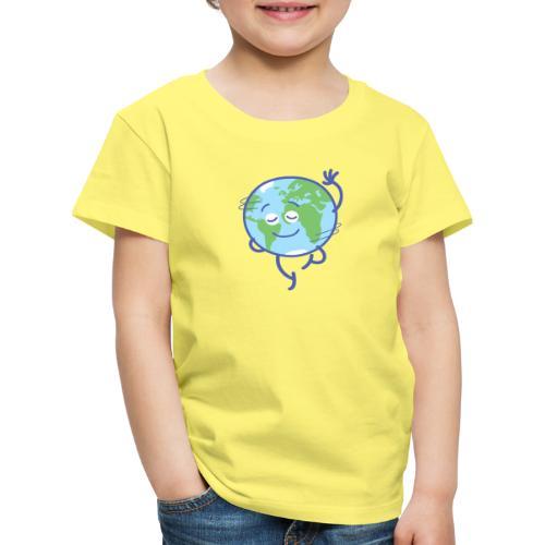 Nice planet Earth rotating graciously - Kids' Premium T-Shirt