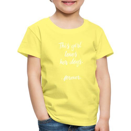 thisgirllovesherdogs2 - Lasten premium t-paita