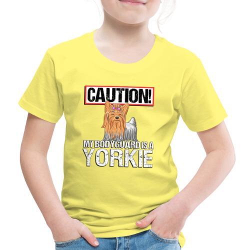 Yorkie Bodyguard - Lasten premium t-paita