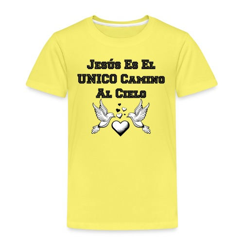 Jesus Unico camino al cielo - Camiseta premium niño