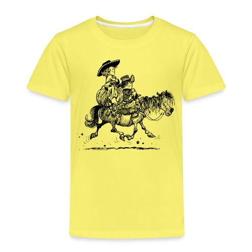 Thelwell Two Cowboys Reiten - Kinder Premium T-Shirt