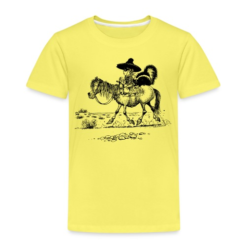 Thelwell 'Cowboy with a skunk' - Kids' Premium T-Shirt