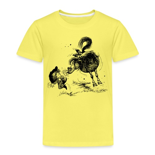 Thelwell 'Pony sticks out his tounge. - Kinder Premium T-Shirt