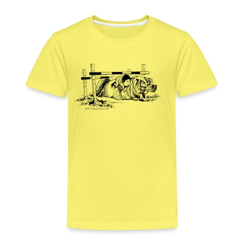 Thelwell Cartoon Pony Sturz - Kinder Premium T-Shirt