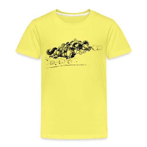 Thelwell Cartoon Westernpony rennt weg - Kinder Premium T-Shirt