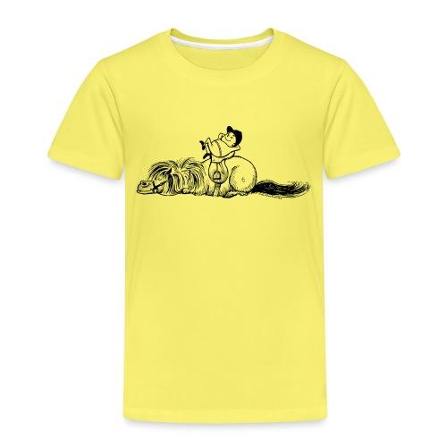 Thelwell Pony und Reiter schlafen - Kinder Premium T-Shirt