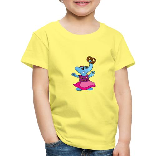 Elefant im Dirndl - Kinder Premium T-Shirt