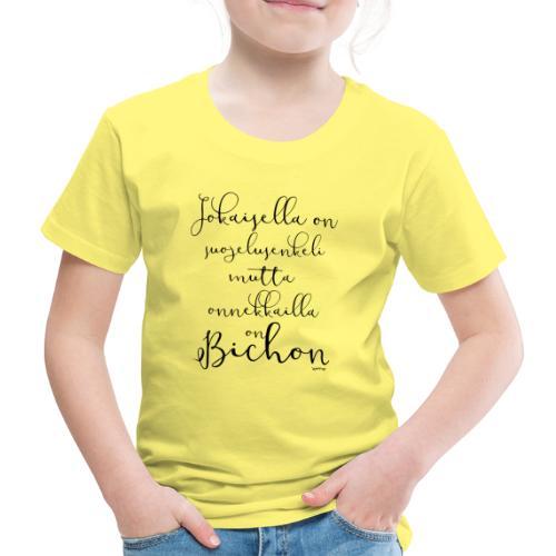 bichonenkelini2 - Lasten premium t-paita