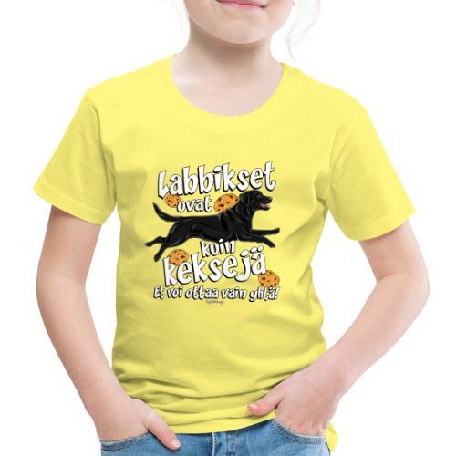 Labradori Keksi 3 - Lasten premium t-paita