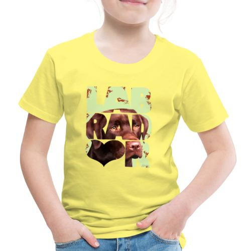 NASSU Labrador Brown II - Lasten premium t-paita
