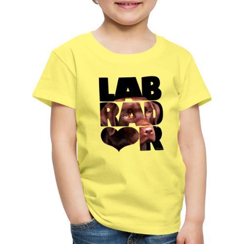 NASSU Labrador Brown IV - Lasten premium t-paita