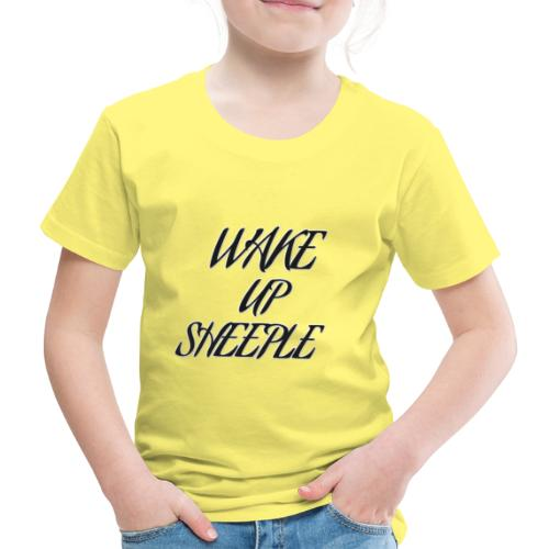 WAKE UP SHEEPLE - Kinder Premium T-Shirt
