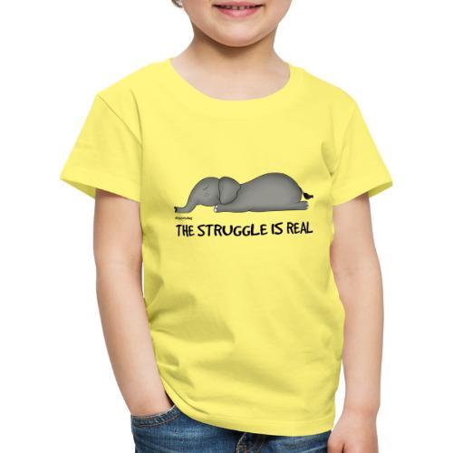 Amy's 'Struggle' design (black txt) - Kids' Premium T-Shirt