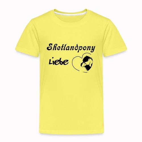 Shetlandpony Liebe in schwarz - Kinder Premium T-Shirt
