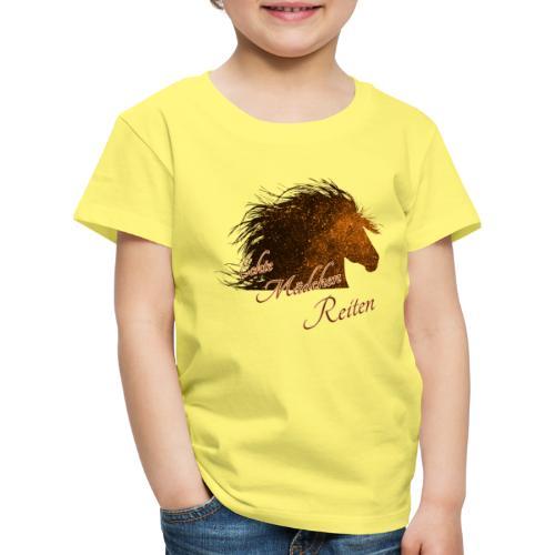 Echte Mädchen Reiten | Pferd | Horse | Geschenk - Kinder Premium T-Shirt