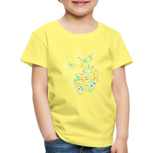 Flower Corgi - Lasten premium t-paita