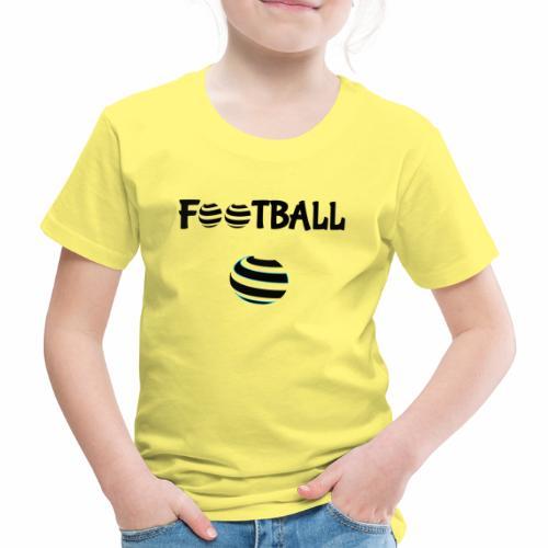 Du football en noir et blanc - T-shirt Premium Enfant