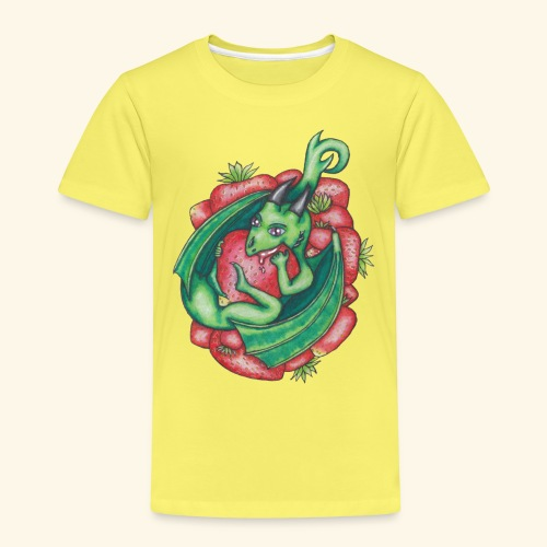 Drake med jordgubbar - Premium-T-shirt barn