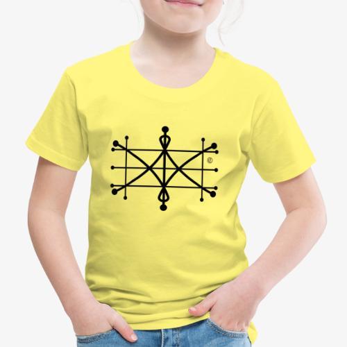 ParaWhisp Logo schwarz Copyright tranparent - Kinder Premium T-Shirt