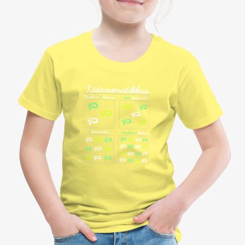 Käärmematikkaa II - Lasten premium t-paita